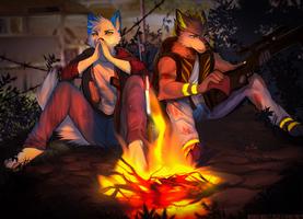 Wolf Skoll2 by AngiewolfArt