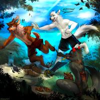 Gotcha! by AngiewolfArt