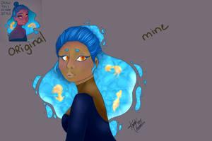 destiny blue redraw   Draw this in youre style by Kazuki-Chamico