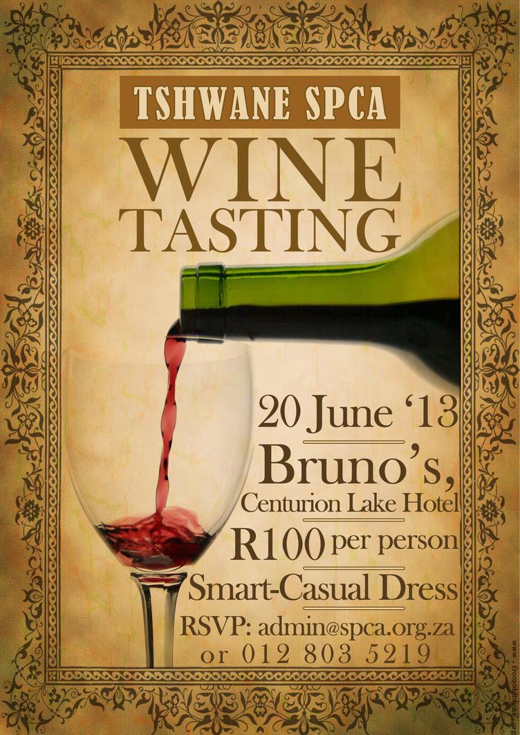 SPCA Wine Tasting Poster By Catchtwenty2