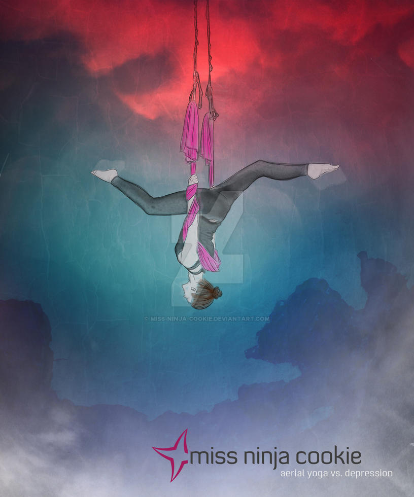 aerial yoga vs. depression I by mel-an-choly
