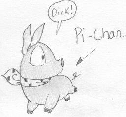 Pi Chan the piggy by dawny