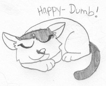Happy-Dumb by dawny