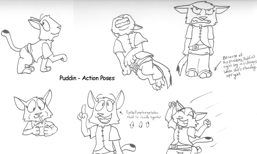 Puddin - Action Poses by dawny