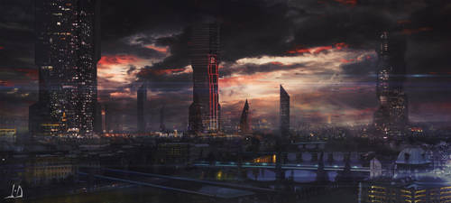 Futuristic Prague by jamesdesign1