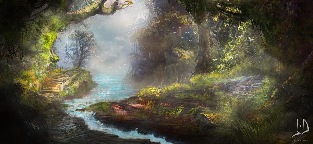Jungle Way by jamesdesign1