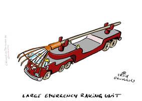 Large Emergency Raking Unit