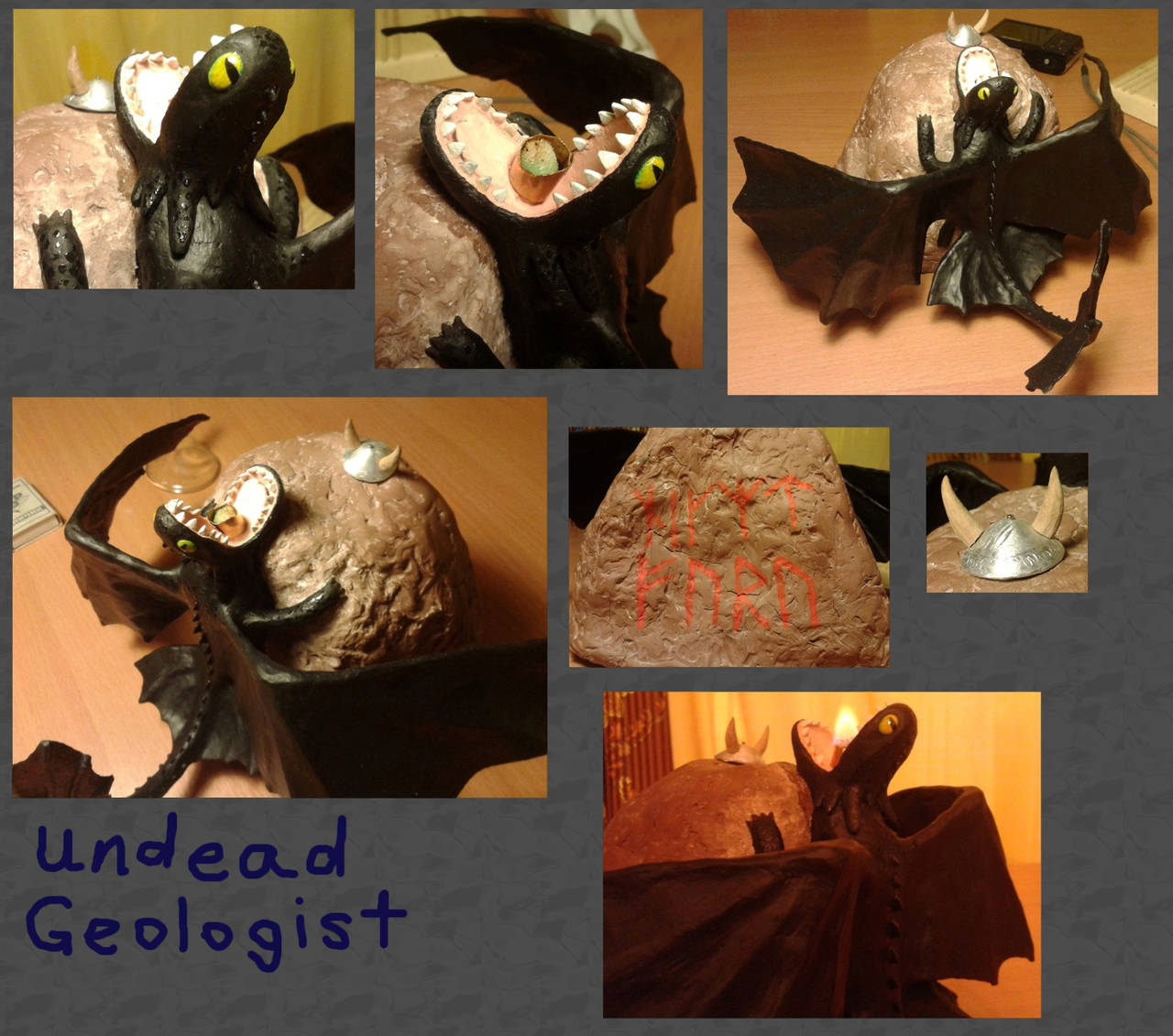 Dragon lamp by Undead-Geologist
