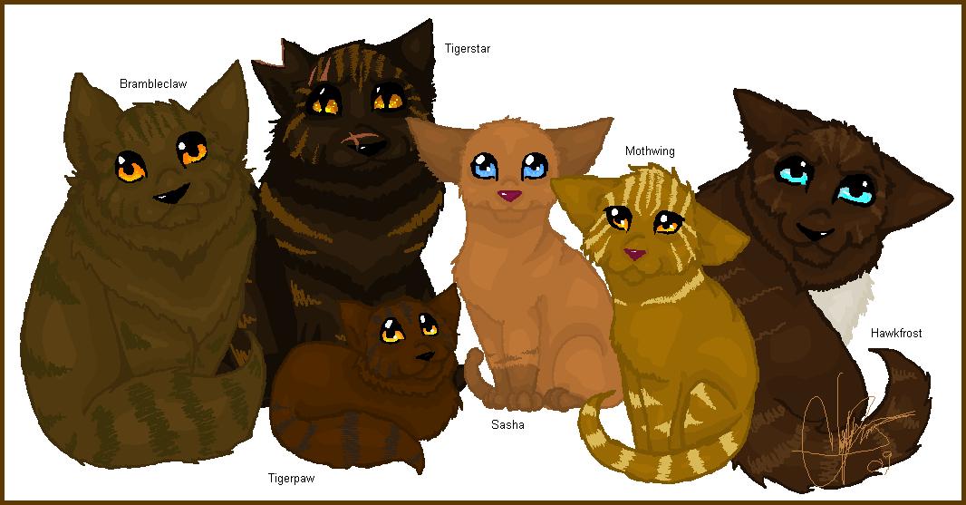 Warrior Cats Blossomkit Family Portrait - Tige...
