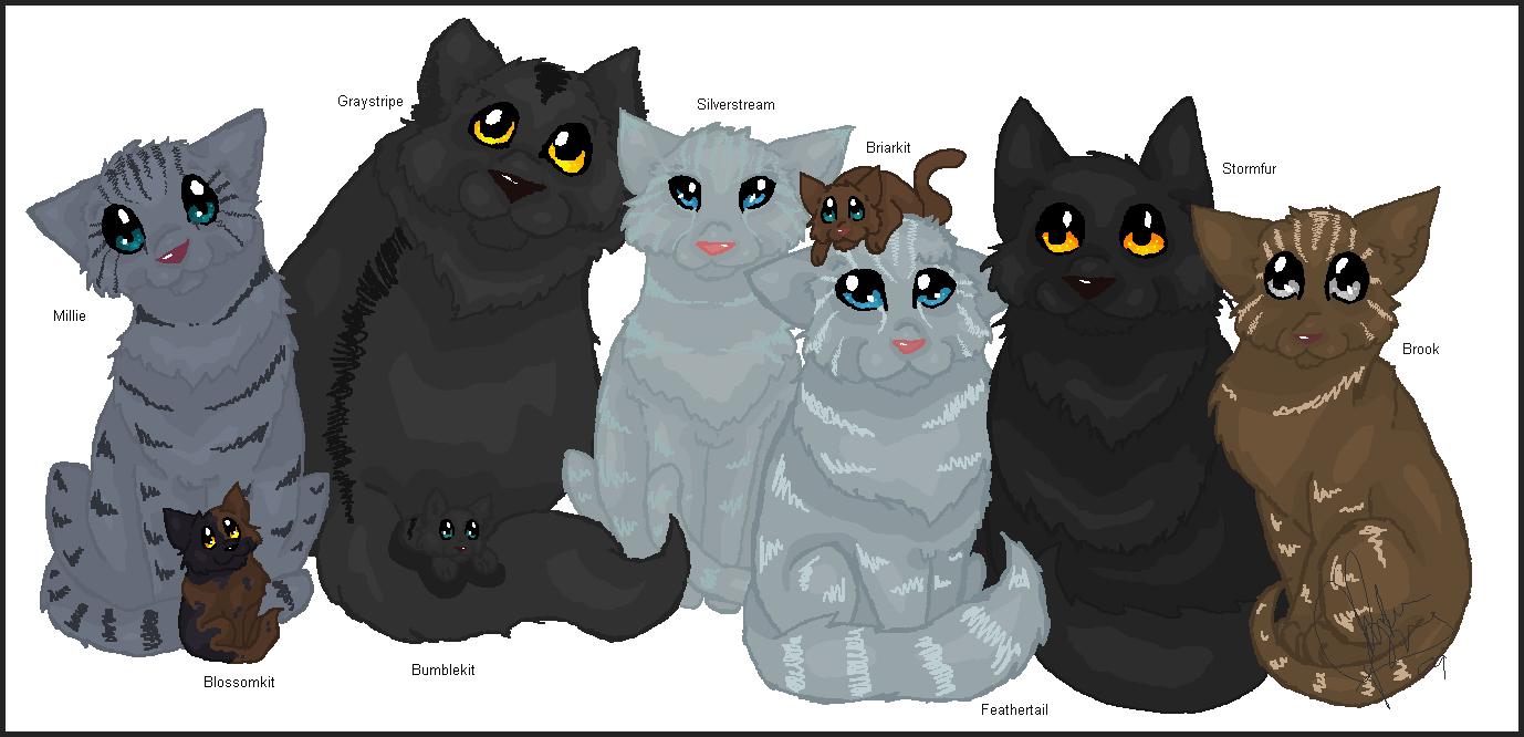 Warrior Cats Blossomkit Family Portrait - Gray...