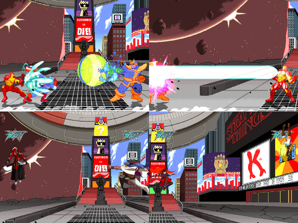 [Mugen Stage] Avengers Infinity War Times Square by JordanoDaMano