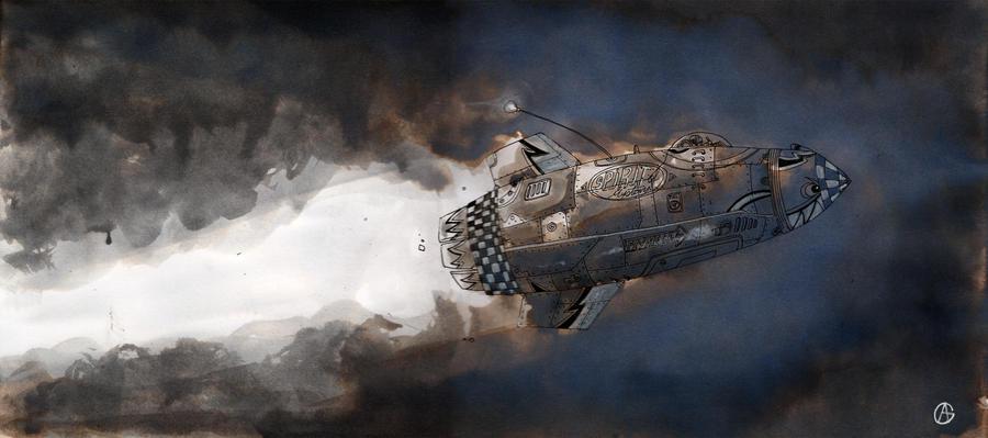 little spaceship by toon13
