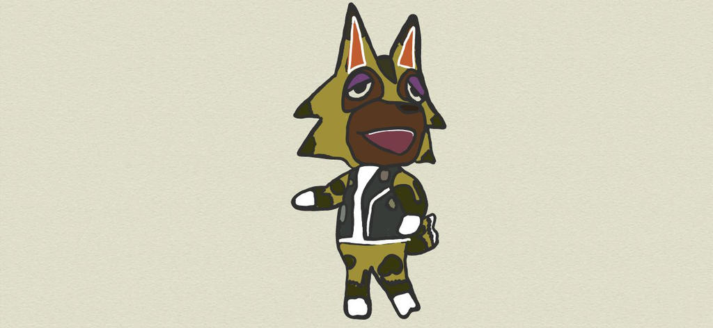 Animal Crossing Villager Kyle Wolf by Megalomaniacaly