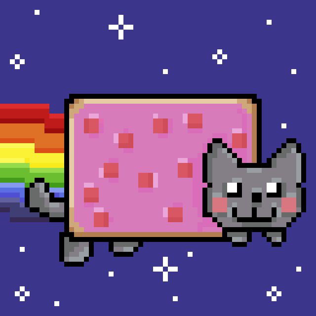 Nyan cat pixel art version 2 by Megalomaniacaly