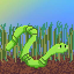 Worm for Pixel Dailies 19.01.18 by Megalomaniacaly