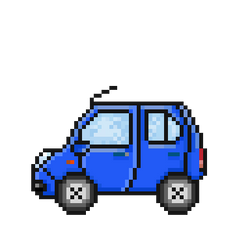 Little Blue Car by Megalomaniacaly