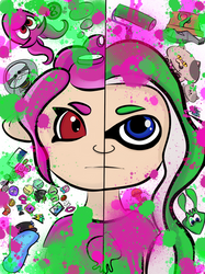 Who are you? - Splatoon 2 fan art by Megalomaniacaly