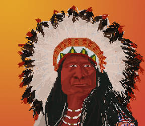 Native American Chief by Megalomaniacaly