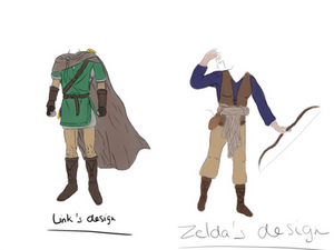 LoZ: Memories - Link and Zelda's clothes design