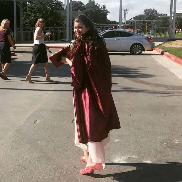 my graduation gown by VioletTutu