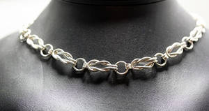 Sterling Silver Lovers Knot Necklace
