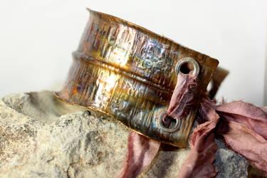 Anticlastic Foldformed Copper Cuff