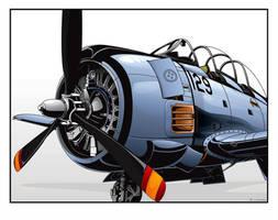Old - T-28 'Trojan' by Luftwaffles