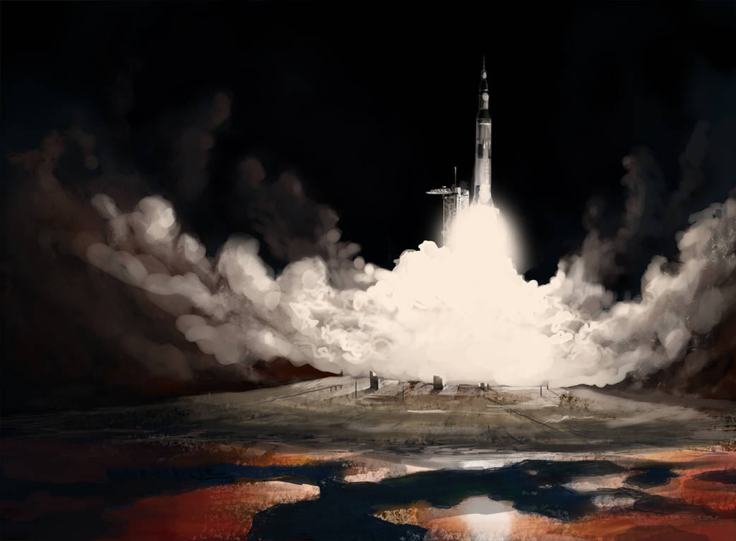 Saturn V Launch by Luftwaffles