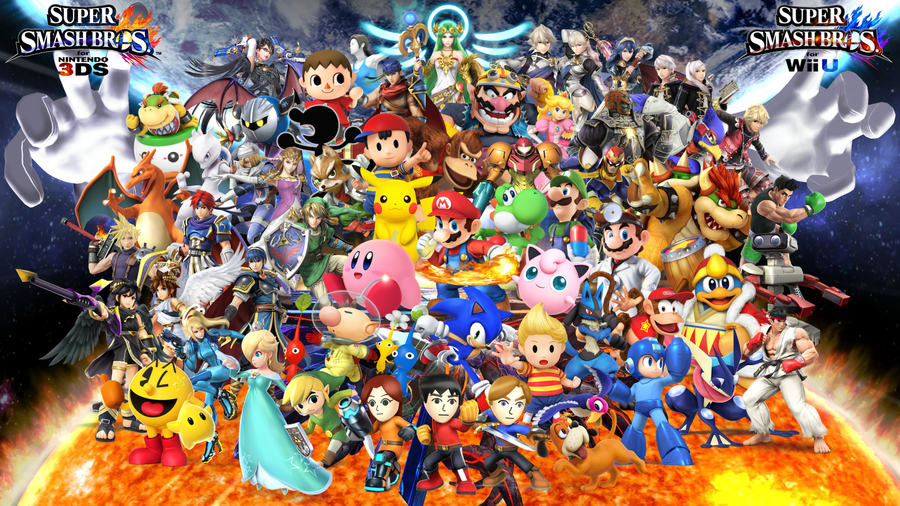 super smash bros for 3dswii u wallpaper by thef5deviants