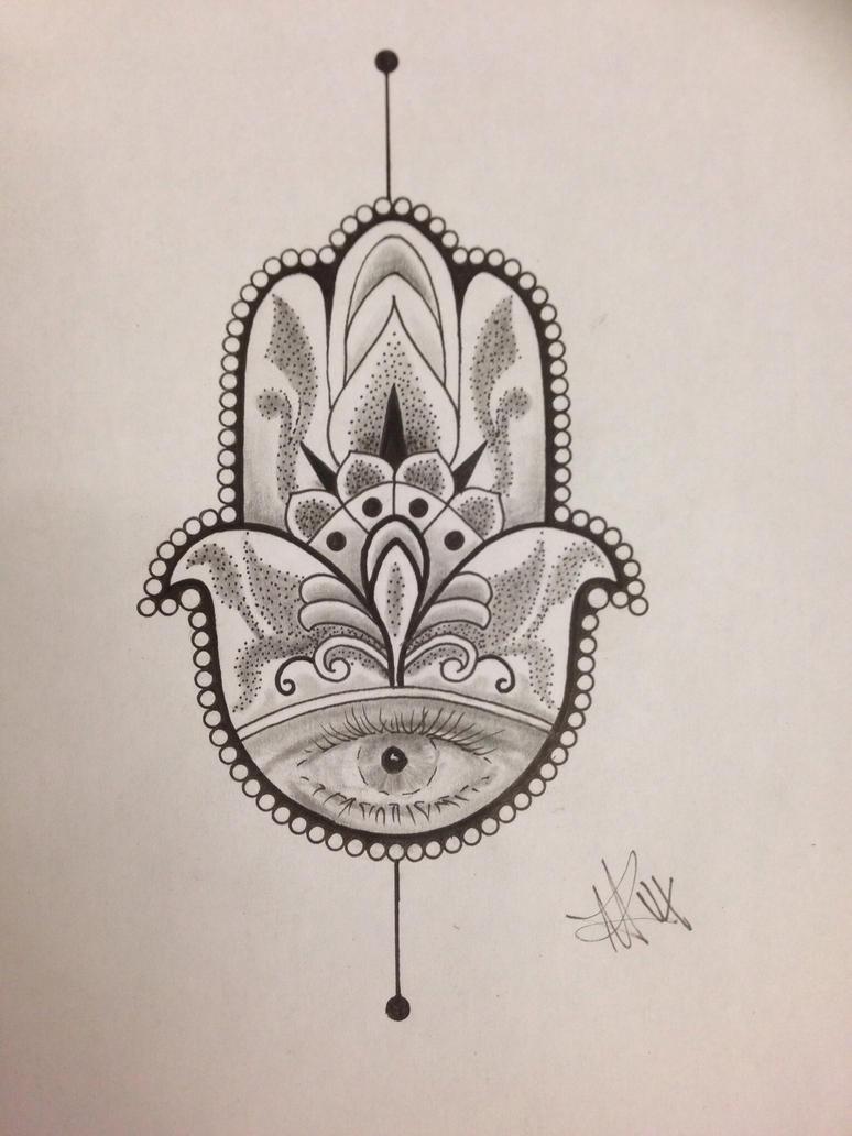 Hamsa hand of fatima by inkz420 on deviantart for Hand of fatima tattoo
