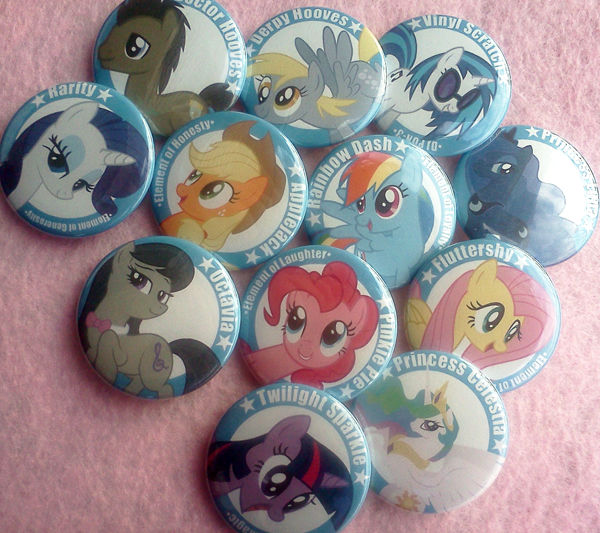 My Little Pony Buttons by XxShirokoxX