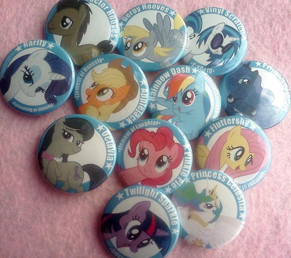 My Little Pony Buttons by XxShirokoxX