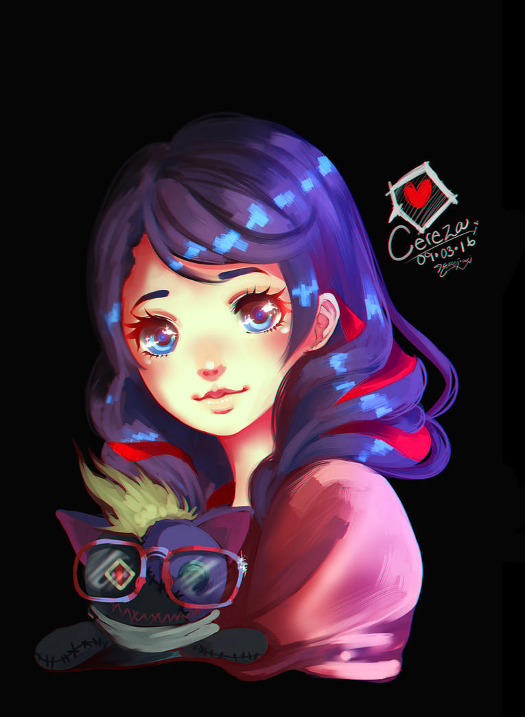 Cereza and Cheshire by nicegal1