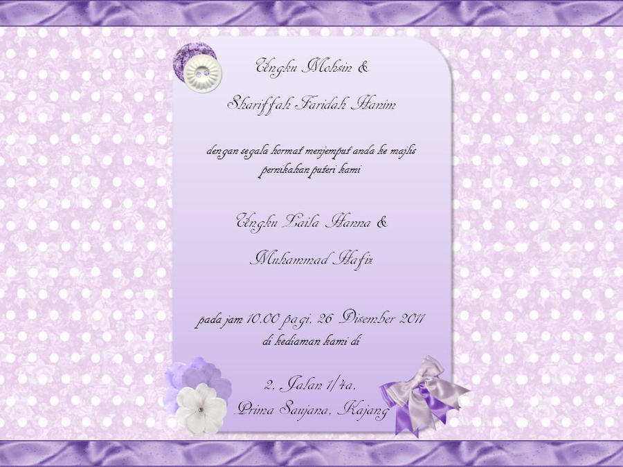 Invitation Solemnization By Ungkulailahanna On Deviantart