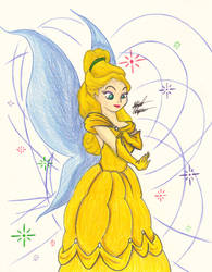 Tink dress as Belle by AnimeChunks