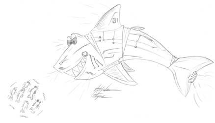 Mecha Shark by AnimeChunks