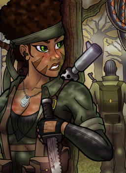 Afr-Am Woman Naked Snake