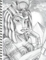 Egyptian Goddess by anubis2kx