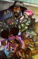 Afr-Am Inspector Gadget by anubis2kx
