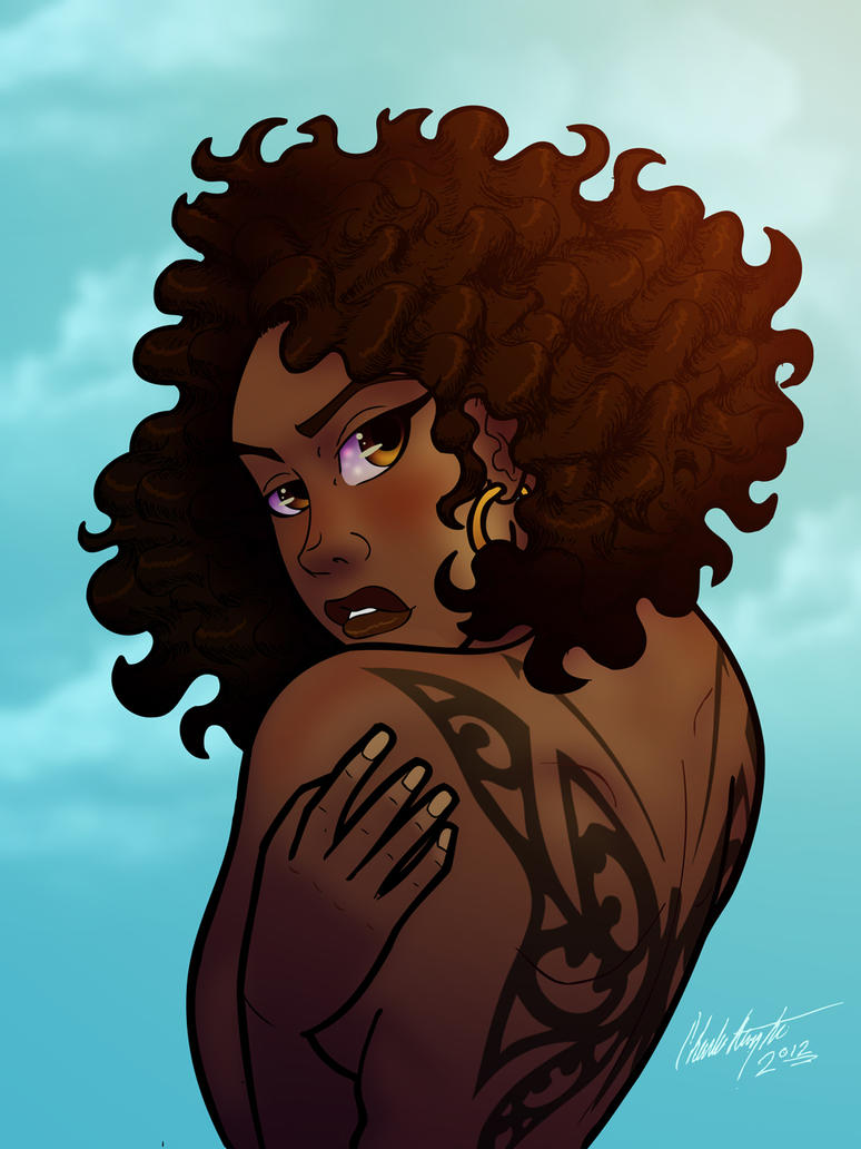 Girl With the Butterfly Tattoo by anubis2kx