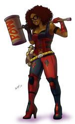 Afr-Am Harley Quinn by anubis2kx