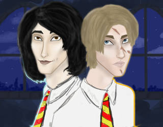 Padfoot and Moony by ZauberiN1313