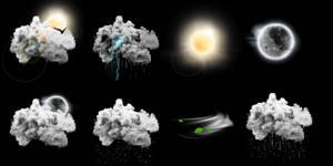 Photo realistic weather icons