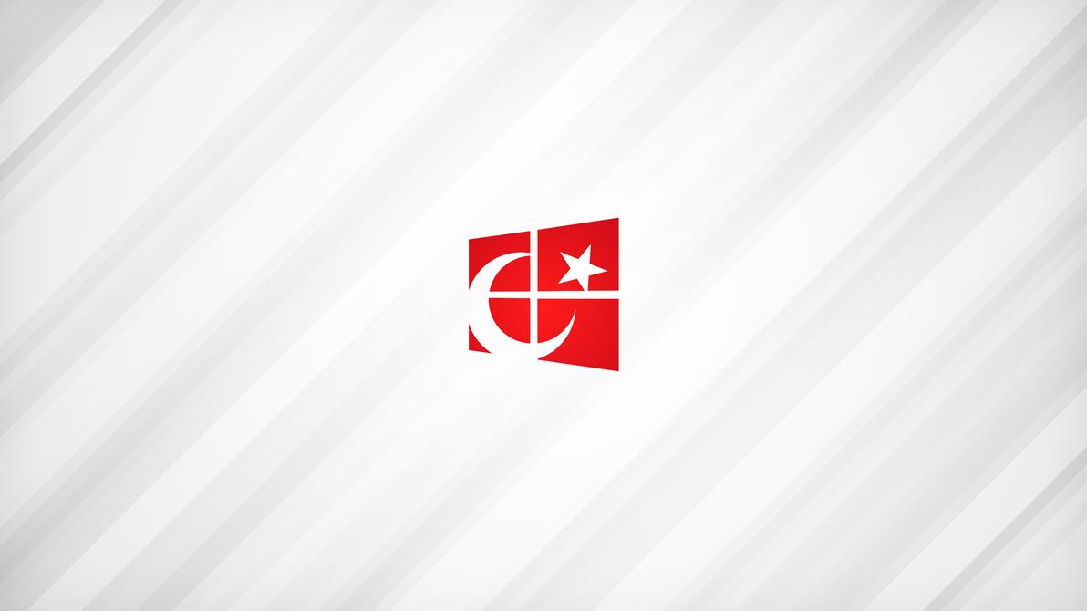 4K Turkish Flag Aluminum Wallpaper By UnrealCoder