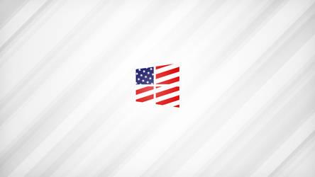 4K American Flag Aluminum Wallpaper