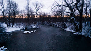 Genesee River in the Winter
