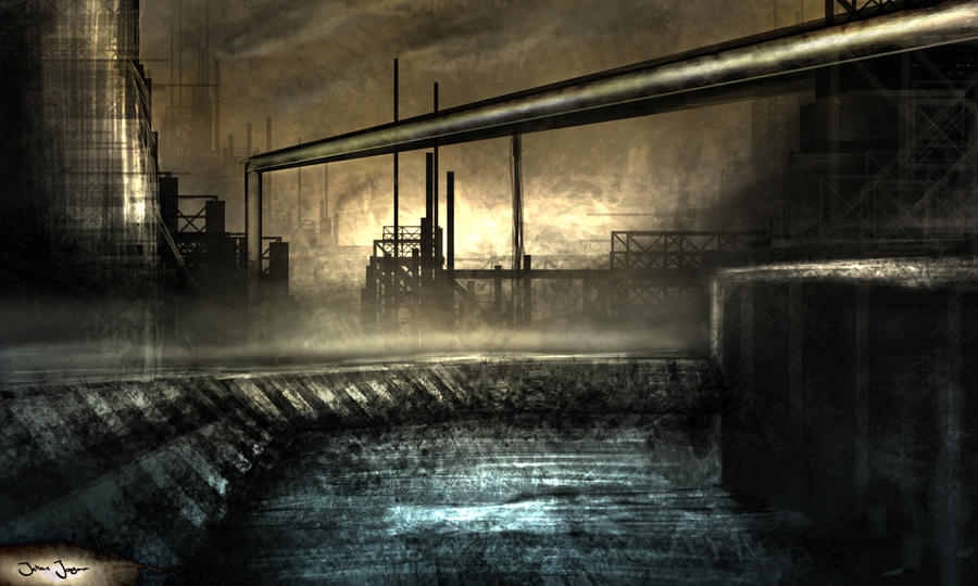 speedpaint industrial city by - photo #23