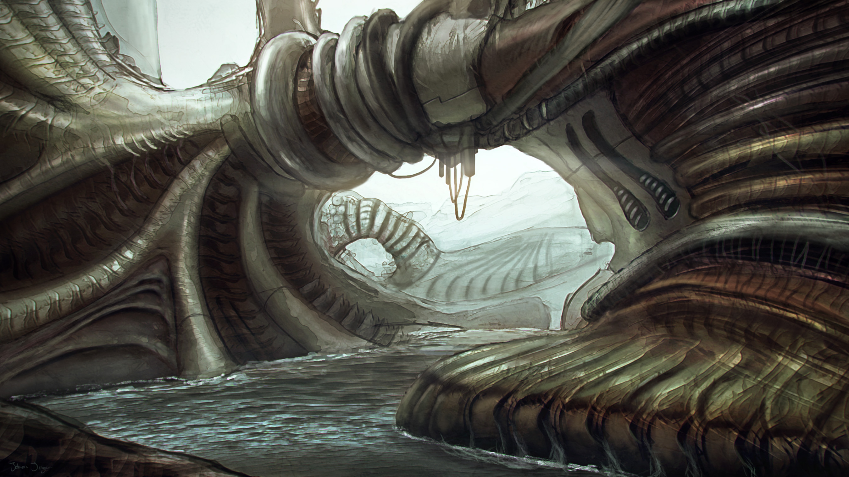 Biomechanical Environment by JohanJaeger