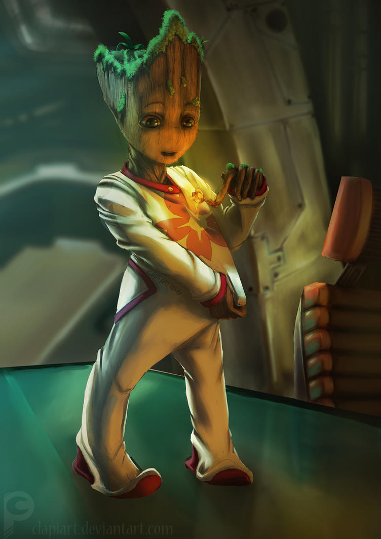 Ici Clapi !   Baby_groot___by_clapiart-dbt0msy