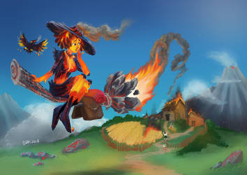 The Volcano Witch by Clapiart